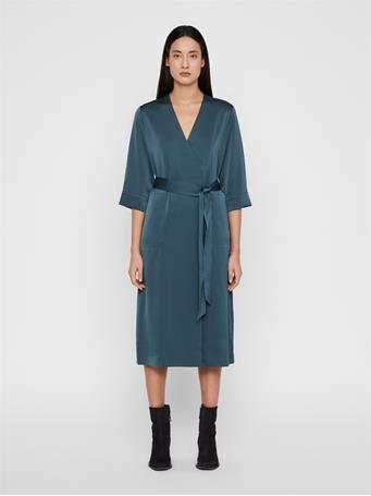 Destiny Fluid Crepe Wrap Dress
