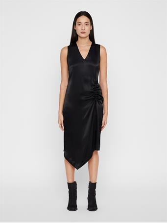 Tara Satin Asymmetrical Dress