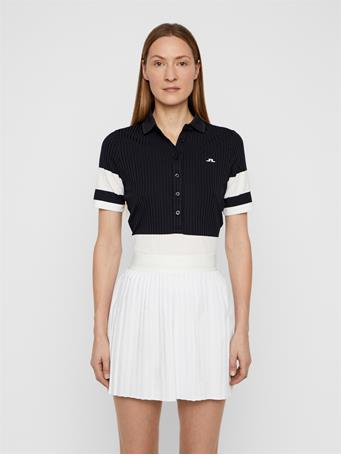Natasha Ribbed Jersey Polo
