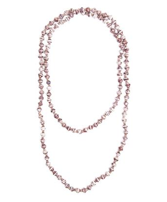 Adera Long Paper Bead Necklace