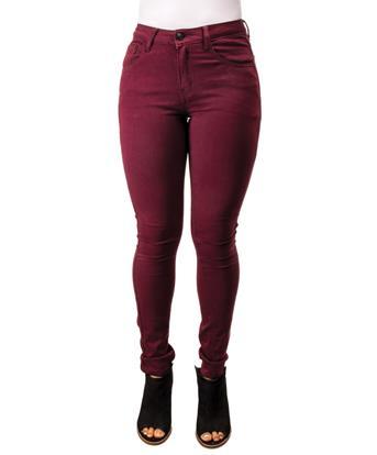 Mystree Wine Stretch Skinny Jeans