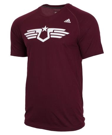 Texas A&M Aggies Adidas Armed Forces Classic Short Sleeve T-Shirt Front Maroon