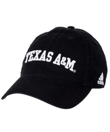 Adidas Texas A&M Adjustable Slouch Cap Black Front Black