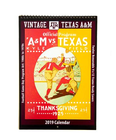 Texas A&M 2019 Vintage Football Calendar - Front N/A