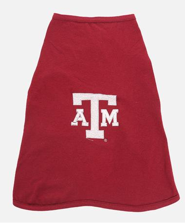 Texas A&M Aggie Dog Cotton T-Shirt Maroon