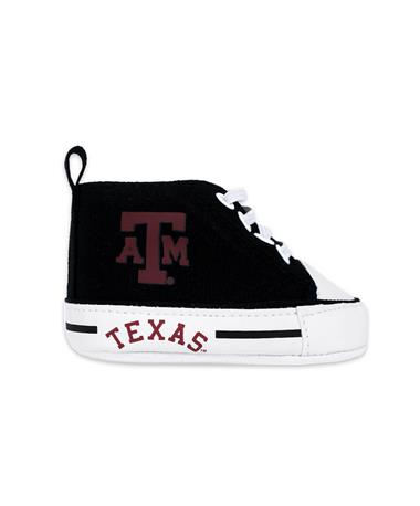 Texas A&M HighTop Prewalker Infant Shoes - Side 1 Maroon