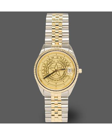 Belair Texas A&M Ladies Two Tone Watch Silver