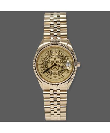 Belair Texas A&M Men`s Gold Tone Watch Gold