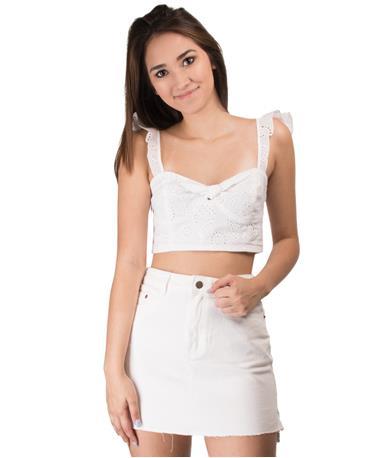 Women`s Corinne Top Front White