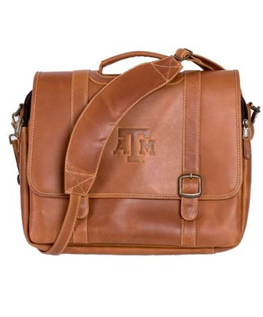 Texas A&M Old Fort Canyon Computer Case - Distressed Tan - Strap Distressed Tan