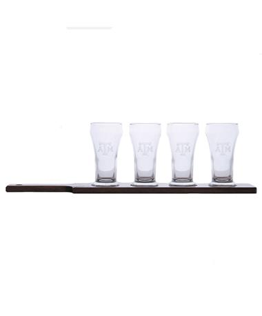 Texas A&M Aggie Beer Flight Set Clear