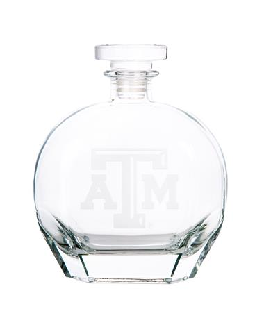 Texas A&M Campus Crystal Puccini Decanter Clear