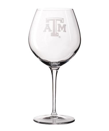 Campus Crystal Texas A&M 22oz Wine Glass Titanium