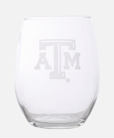 Campus Crystal Texas A&M Stemless Glass Clear