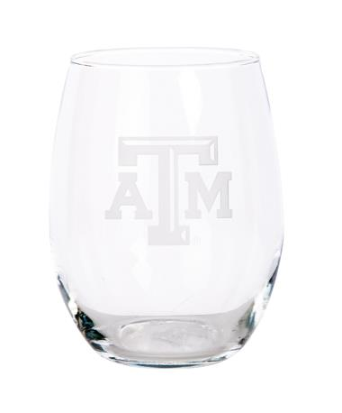 Texas A&M Campus Crystal 21oz Stemless Wine Glass Clear
