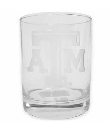 Texas A&M Campus Crystal Round Rock Glass Clear