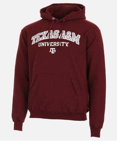 Champion Texas A&M Powerblend Hoodie Front Maroon