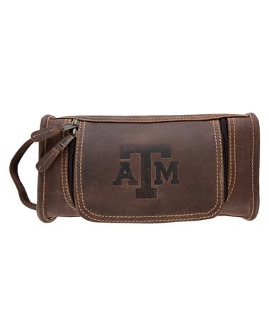 Taylor Falls Texas A&M Travel Kit - Brown - Front Brown