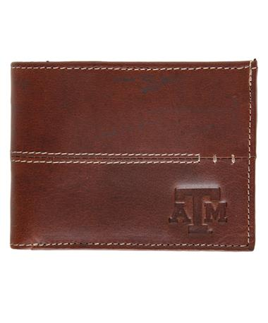 Canyon Texas A&M Burr Zipped Wallet - Front Brown