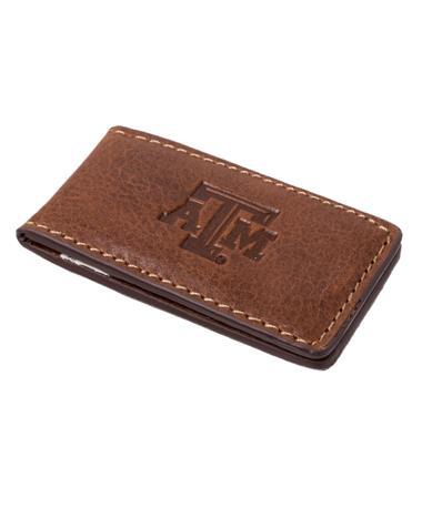 Westbridge Texas A&M Money Clip Tan