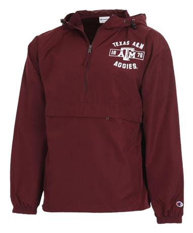 Champion Texas A&M Adult Packable Jacket Front