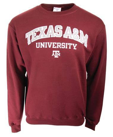 Champion Texas A&M Powerblend Crew Neck Sweatshirt Maroon