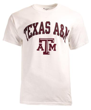 Champion Texas A&M Aggie T-Shirt White - Front White