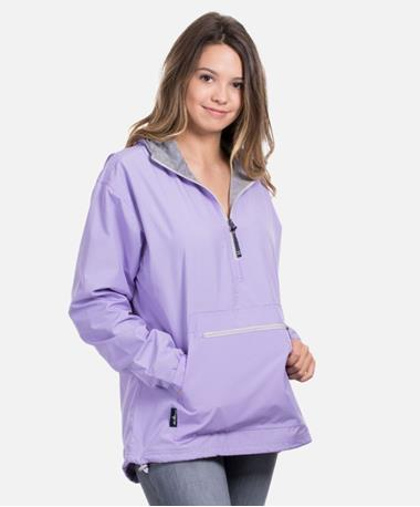 Charles River Womens Chatham Anorak Jacket - Lilac - Front Lilac