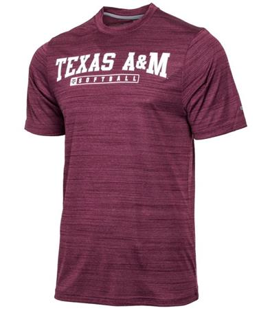 Texas A&M Line Up Softball T-Shirt Maroon