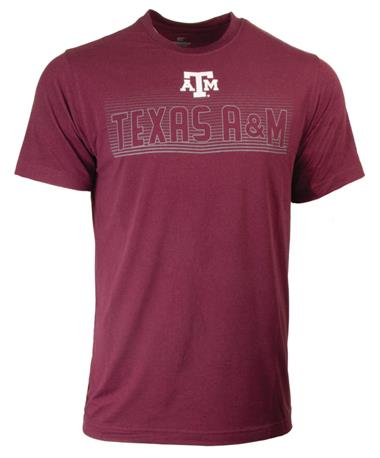 Texas A&M Aggie Mens Electricity SS Tee Maroon