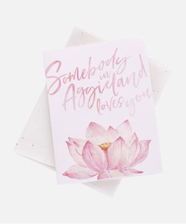 Somebody In Aggieland Loves You Card - Card and Envelope SOMeOne In AGG