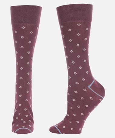 Mini Diamond Cotton Socks Port