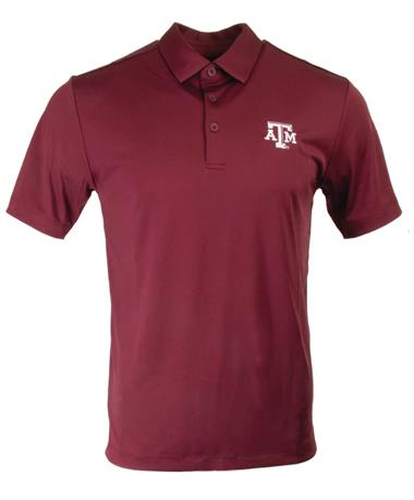 Columbia Texas A&M Omni-Wick Drive Polo Deep Maroon