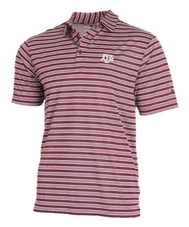 Columbia Texas A&M OmniWick Members Polo Front Deep Maroon