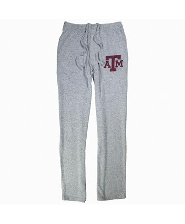 Texas A&M Reprise Men`s Sleep Pant - Front Grey