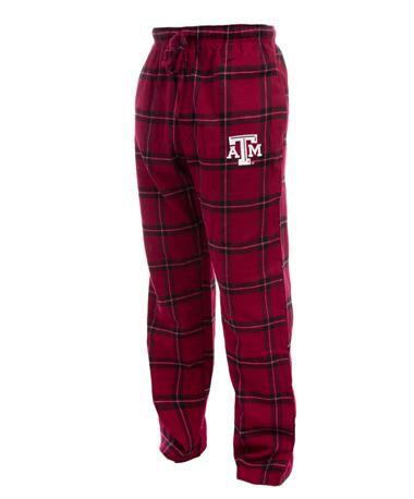 Texas A&M Men`s Homestretch Sleep Pant - Angle Maroon