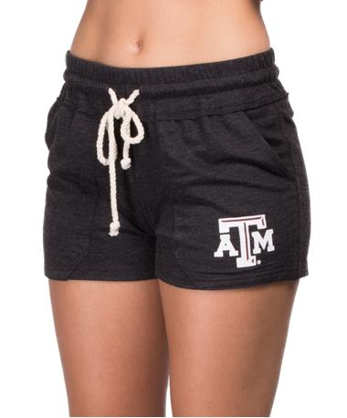 Texas A&M Aggie Tempo Shorts Front Angle Charcoal