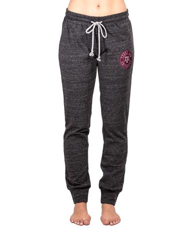 Texas A&M Aggie Patch Womens Joggers - Front Charcoal