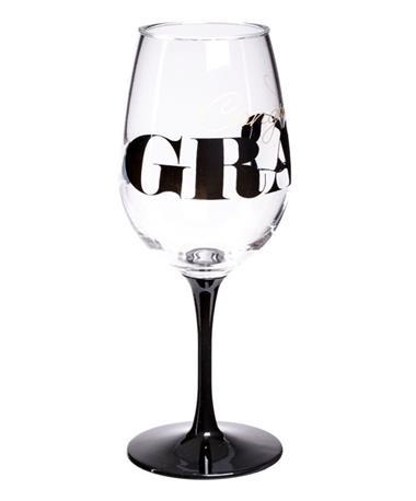 Congrats Grad Wine Glass - View 1 Clear