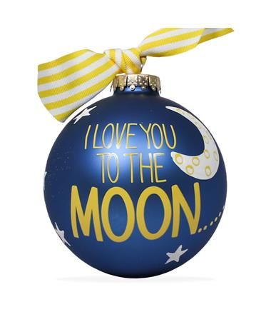 Coton Colors To The Moon Back Ornament - Royal Blue - Front Royal Blue