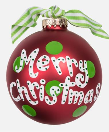 Coton Colors Merry Christmas Ornament Red