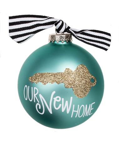 Coton Colors Our New Home Key Ornament Turquoise