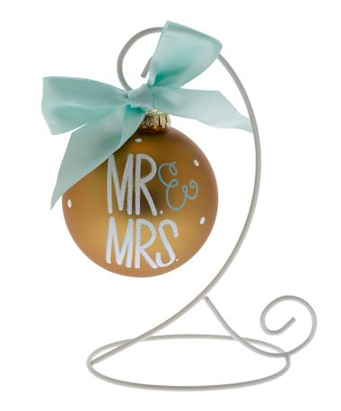 Coton Colors Mr & Mrs Ornament Gold