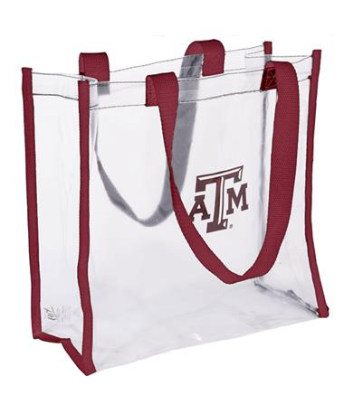 Texas A&M Clear Open Stadium Tote Clear