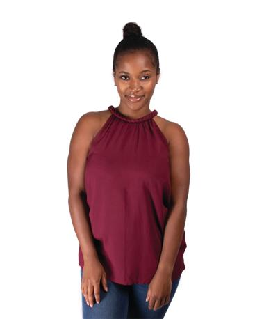 Escapada Pasha Sleeveless Top Maroon