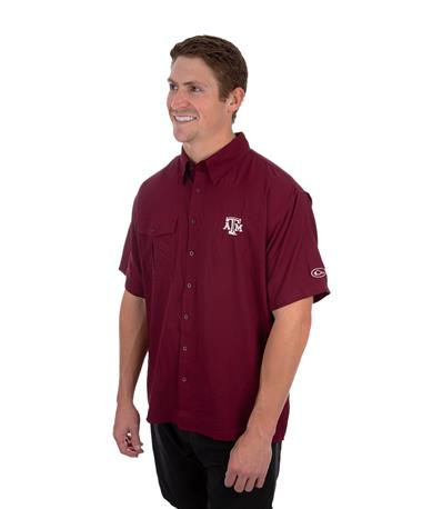 Texas A&M Drake Flyweight Short Sleeve Maroon