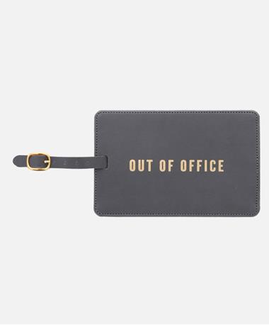Out of Office Luggage Tag Front Black