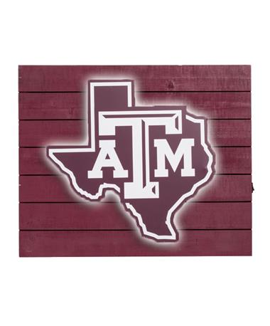 Texas A&M Lone Star Light Sign - Lit Maroon