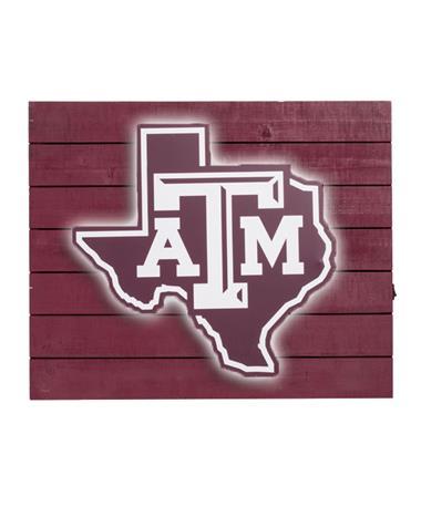 Texas A&M Lone Star Light Sign - Lit Maroon