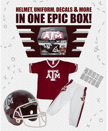 Texas A&M Aggie Deluxe Uniform Set Maroon